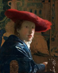 """Girl with a Red Hat"" Johannes Vermeer c. 1665-1667"